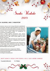 Lettera di suor Tiziana Natale 2019